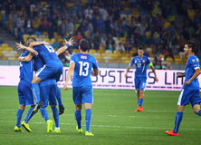 EURO 2016 Qualifying game Ukraine vs Slovakia Stock Photos