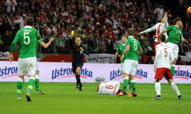EURO 2016 Qualifying Round Poland vs Rep. of Ireland Royalty Free Stock Image