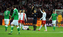 EURO 2016 Qualifying Round Poland vs Rep. of Ireland Royalty Free Stock Images