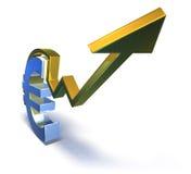 Euro que vai acima Imagens de Stock