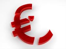 Euro quebrado Imagen de archivo libre de regalías