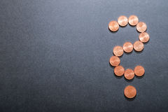 Euro question mark stock photography