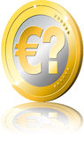 Euro question mark reflexion Stock Photo