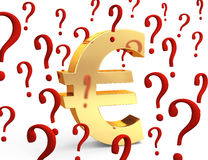 Euro in questione Fotografia Stock