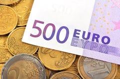 Euro quinientos Foto de archivo libre de regalías