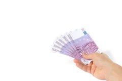 euro ręka Fotografia Stock