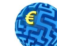 Euro raadsel Stock Afbeeldingen