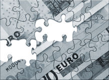 Euro raadsel royalty-vrije stock foto's