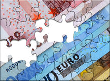 Euro raadsel stock illustratie