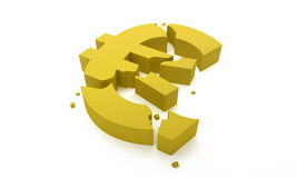 Euro- rachadura ilustração stock