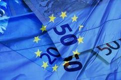 Euro rachunki Zdjęcia Stock