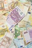Euro rachunki Obraz Royalty Free