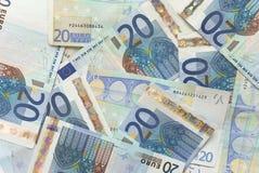 Euro rachunki - 20 Obrazy Royalty Free