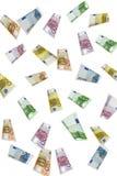 Euro Rain. 10, 20, 50, 100, 200 and 500 euro Royalty Free Stock Photos