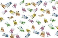 Euro Rain. 10, 20, 50, 100, 200 and 500 euro Royalty Free Stock Photography