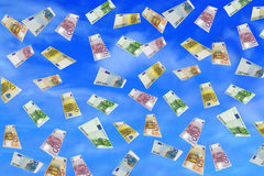 Euro Rain Stock Photography