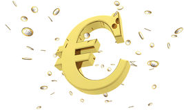 Euro rain Royalty Free Stock Photos