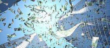 Euro rain Royalty Free Stock Photos