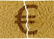 Euro rasgado ilustração do vetor