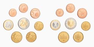 Euro rasgado ao meio de encontro ao fundo velho Fotos de Stock Royalty Free