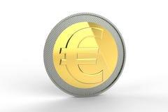 Euro rasgado ao meio de encontro ao fundo velho Foto de Stock