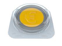 Euro rasgado por la mitad contra viejo fondo ilustración del vector