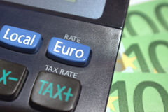 Euro rate button Royalty Free Stock Images