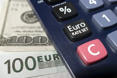 Euro rate set Royalty Free Stock Photo