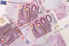 Euro rayon X de factures Images libres de droits