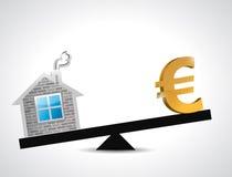 Euro real estate balance industry illustration Stock Images