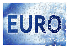 The Euro reconstruction - concept image Royalty Free Stock Images