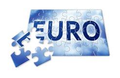 The Euro reconstruction - concept image Stock Photos