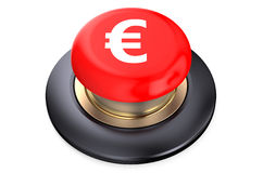 Euro Red button Royalty Free Stock Photography