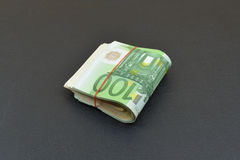 Euro with red rubber Royalty Free Stock Image