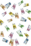 Euro Regen Royalty-vrije Stock Foto's