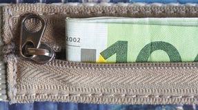 Euro rekening Royalty-vrije Stock Foto