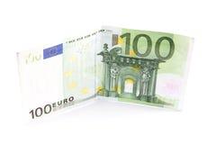 Euro rekening honderd Stock Foto's