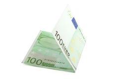 Euro rekening honderd Royalty-vrije Stock Afbeeldingen