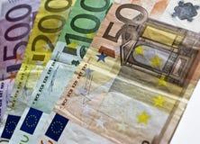Euro rekeningen Stock Foto's