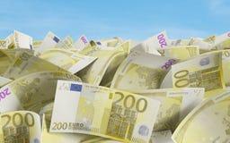 200 euro Rekeningen Stock Foto's