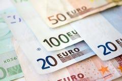 Euro rekeningen stock foto