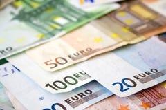 Euro rekeningen Royalty-vrije Stock Fotografie