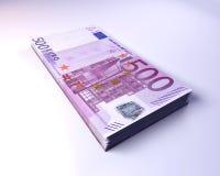 Euro Rekeningen Royalty-vrije Stock Foto's