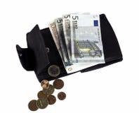 Euro rekeningen incl. sommige centen Stock Afbeelding