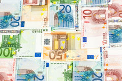 Euro rekeningen, patroon Royalty-vrije Stock Foto's