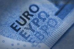 Euro rekenings dichte omhooggaand Stock Foto