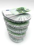 Euro remolinado Fotos de archivo libres de regalías