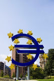 Euro in reverse Royalty Free Stock Photos