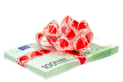 Euro with ribbon Royalty Free Stock Photo