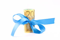 Euro with ribbon Royalty Free Stock Images